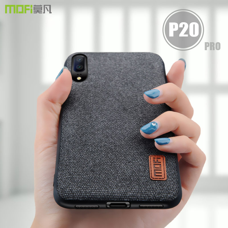 for huawei p20 pro case cover MOFI P20 lite fabrics Case for huawei P20 Back Cover Case p20 plus Soft Silicone full Cover Case