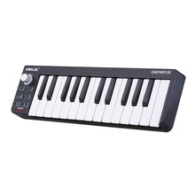 Worlde Easykey.Mini 25-klawiszowy kontroler USB MIDI 25 przenośna klawiatura 25 klawiszy mini-klawiatury wrażliwych na prędkość