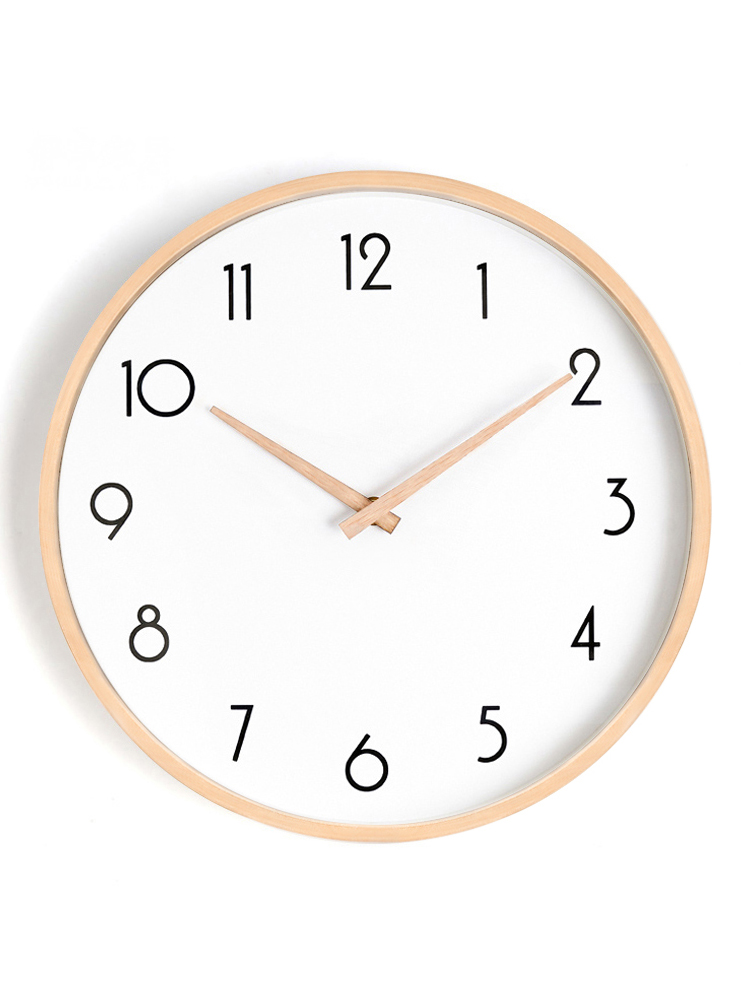 Wooden Wall Clock Simple Modern Design Hanging Wall Decor Nordic Brief Style Wood Clocks Wall Watch Home Decor Silent