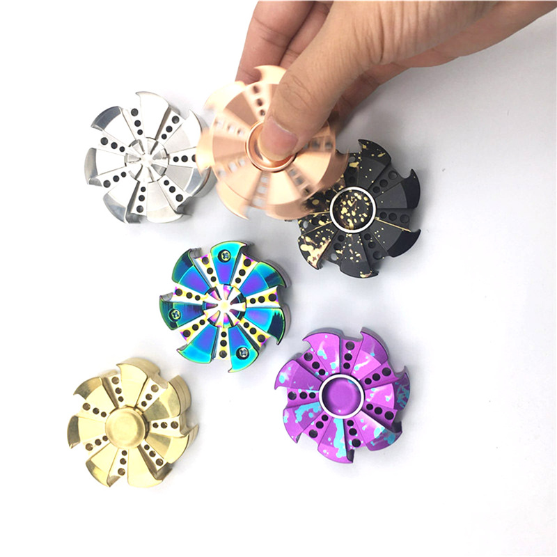 Hot V2 EDC Finger Spinner Rose Turbine Fidget Spin Focus Toy Stress Relief for Adult/Kids Professional Hand Spinners Toys pudcoco metal boys girls rainbow fidget hand finger spinner focus edc bearing stress toys kids adults