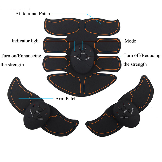 New Smart EMS Muscle Stimulator ABS Abdominal Muscle Toner Body Fitness Shaping Massage Patch Sliming Trainer Exerciser Unisex 3
