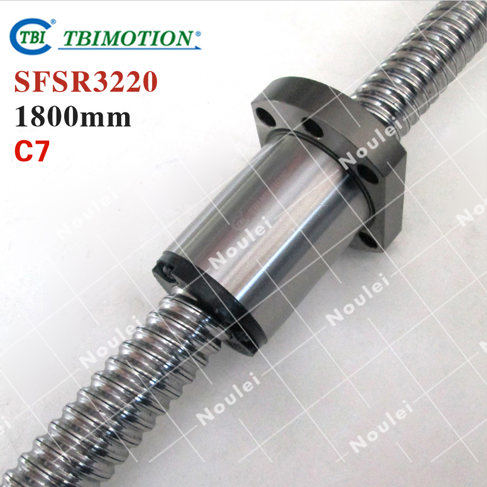 original New Taiwan TBI 3220 ballscrew 1800mm with SFS type ball but 20mm lead for CNC kit 4pcs new for ball uff bes m18mg noc80b s04g