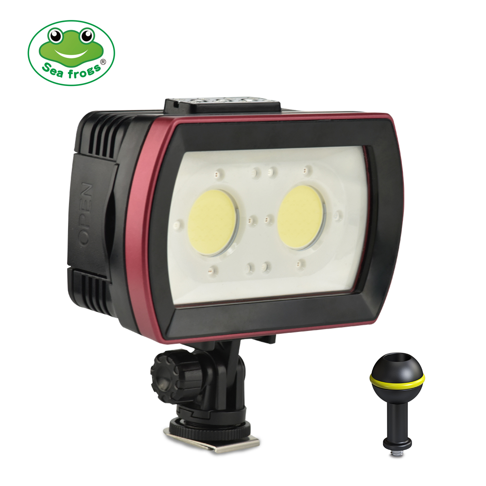 Seafrogs IPX8 Waterproof Camera LED Photo Video Fill Light Lamp 40M Underwater Diving Photography Lighting  3500Lm