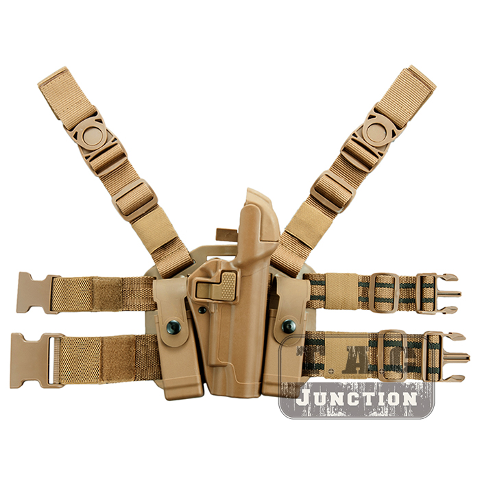 Tactique Serpa dissimulation niveau 3 rétention Auto verrouillage devoir main droite goutte jambe cuisse pistolet étui pour Colt 1911 M1911