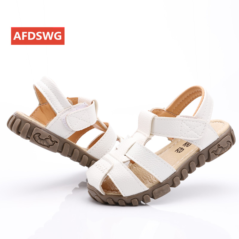 Mother & Kids ... Children's Shoes ... 32785906171 ... 4 ... leather sandals boys 2020 100% soft leather in summer the new boys and girls children beach shoes  kids sport sandals princess s ...