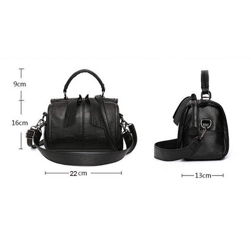 Image 5 - FUNMARDI Soft PU Leather Handbag Women Shoulder Bag High Quality Crossbody Bags Fashion Boston Pillow Ladies Bag Totes WLHB1976-in Top-Handle Bags from Luggage & Bags