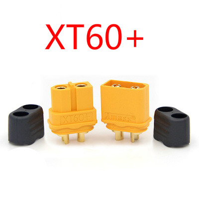 1pair XT60+ Sheath Housing Connector Plug, Amass Lithium Battery Discharging Terminal For Rc Lipo Model And More