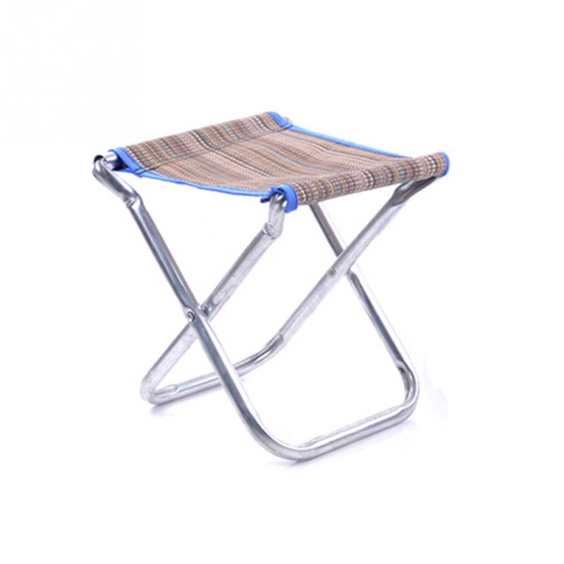 New High Quality Outdoor Portable Mini Foldable Bench Stool For Fishing Traveling Necessity Color Randomly #0910 bamboo bamboo portable folding stool have small bench wooden fishing outdoor folding stool campstool train