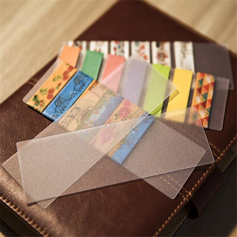 Student 5 Pcs/lot DIY Cute Kawaii Frosted PVC Tape Separate Card Lovely Transparent Washi Tape For Home Decoration 525