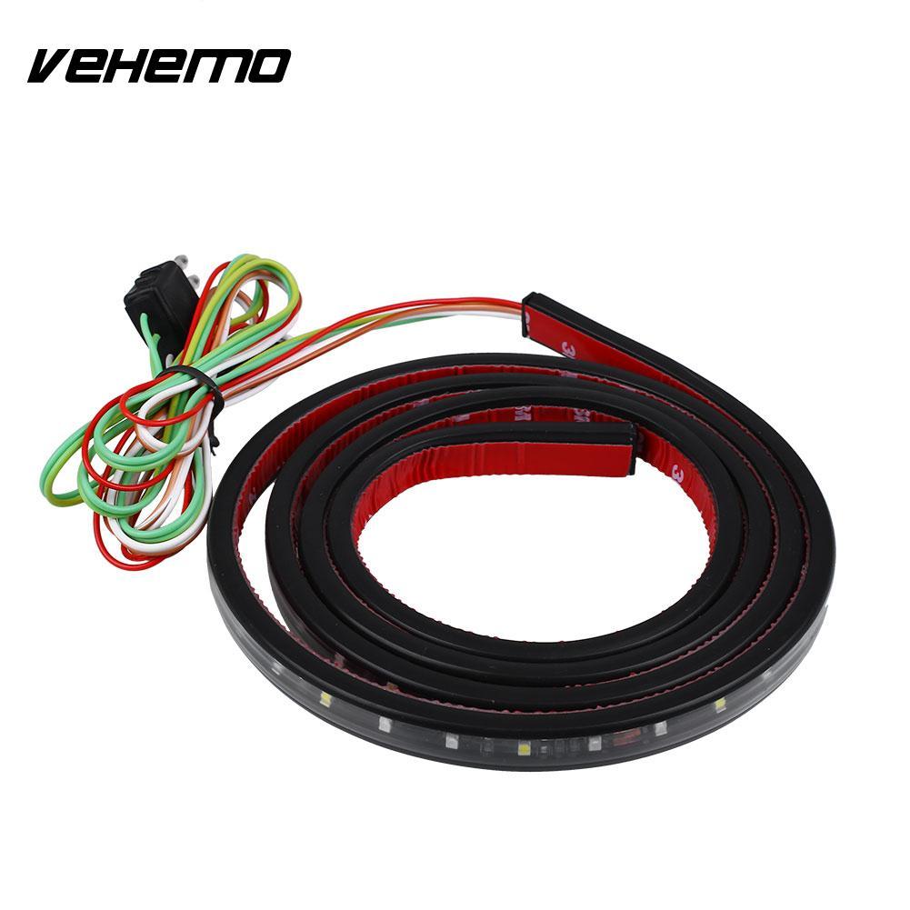 цены на Vehemo 60 Inch Car Truck Flexible LED Strips Tailgate Bar Brake Reverse Signal Light в интернет-магазинах