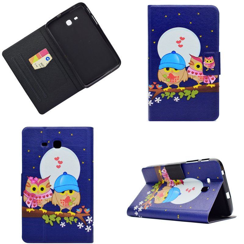 Cartoon OWI Elephant PU leather Stand Smart Cover For Samsung Galaxy Tab 3 Lite 7.0 T110 T111 T116 T113 7 Tablet Cover Coque 360 degree rotating stand smart pu leather cover case for samsung galaxy tab 3 lite 7 0 t110 t111 t113 t115 t116 tablet film pen