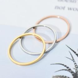 ZMZY anneaux ronds pour femmes mince en acier inoxydable bague de mariage simplicité mode bijoux en gros bijoux 1mm