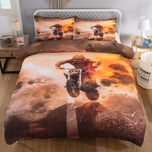 Passion Racing driver motorbike linens quilts and bedding sets Twin Full Queen King Single Double Duvet Cover set new(China)