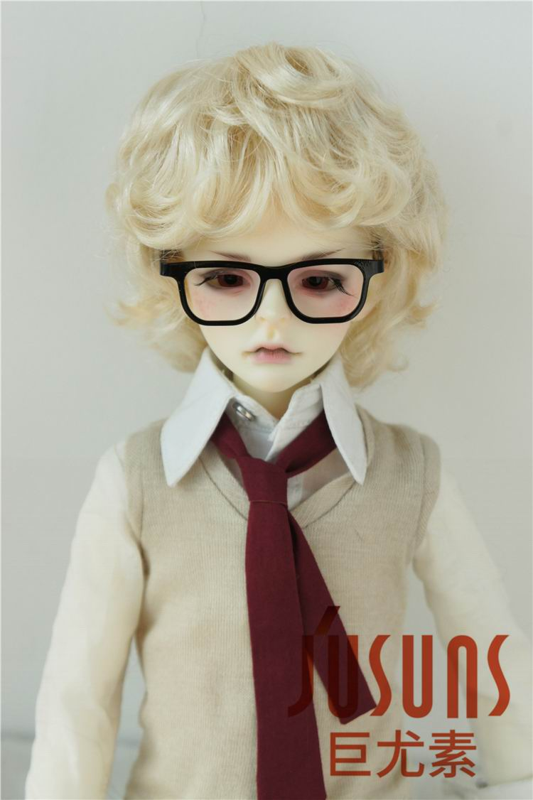 JD219 1/4 MSD doll wig synthetic mohair wig Size 7-8 inch Cupid BJD hair doll accessories jd145 msd synthetic mohair doll wigs 7 8inch long curly bjd hair 1 4 doll accessories