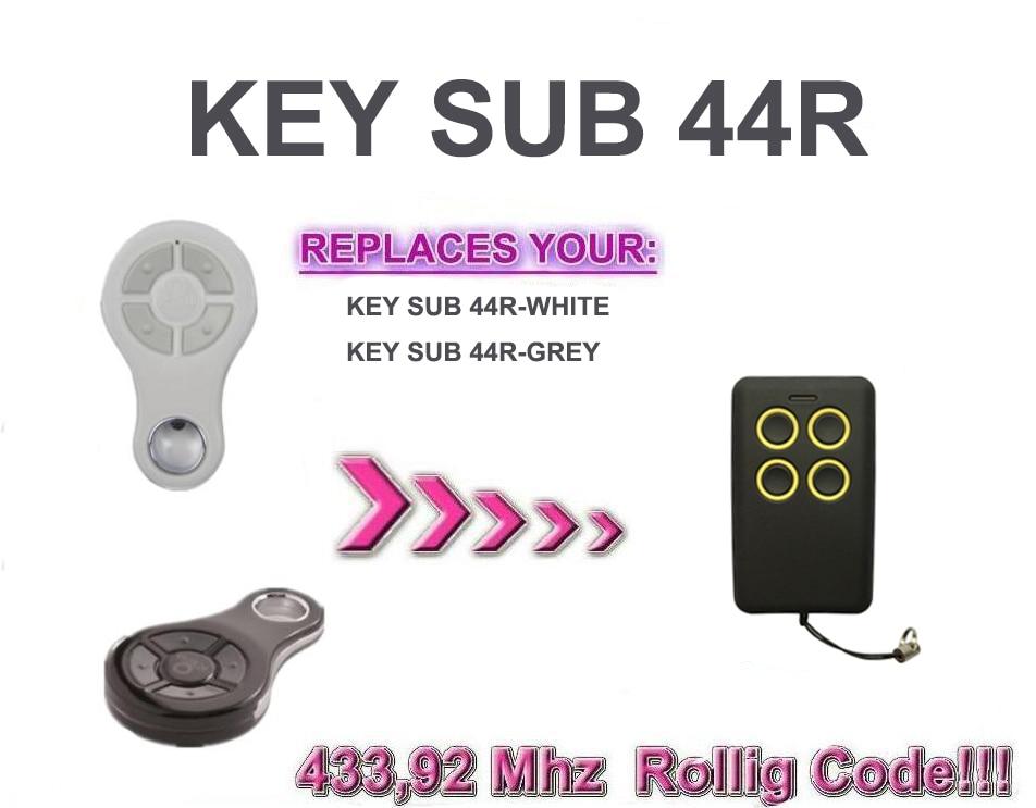 Garage remote clone KEY SUB 44R rolling code