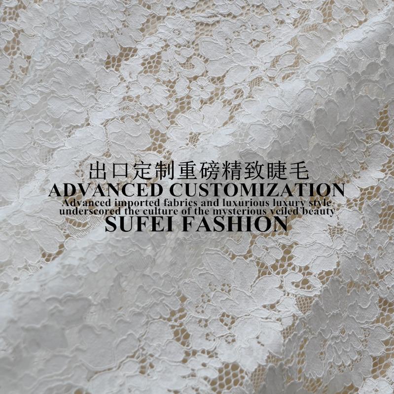 150*150 cm cils blanc noir coton polyester dentelle robe vêtements blouse tissu S041