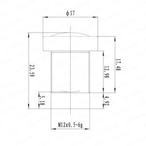 Image 5 - Filtro IR Obiettivo Fisso 2.3 millimetri 1/3 pollici di 170 Gradi Grandangolare Per EKEN/SJCAM AR0330/OV4689 Action macchina fotografica o in Auto Registratore di Guida