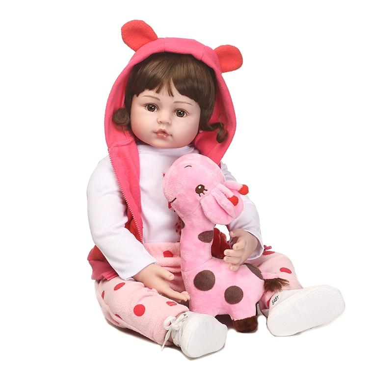 55 см новые силиконовые Reborn Baby Doll Игрушечные лошадки для малыша детский прекрасный малышей Куклы на день рождения подарок Обувь для девочек ...