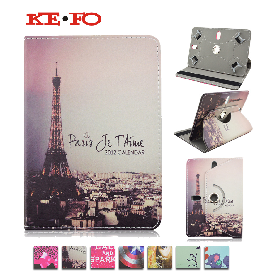 360 Rotating Leather Case Cover For Odys Connect 7 Pro /Odys Pedi Plus 7 Printed Universal 7inch tablet Android cases S4A92D