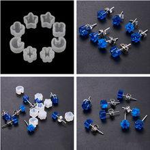 5pcs DIY Silicone Earring Ear Stud Mold Making Jewelry Resin Casting Mould Craft Tool(China)