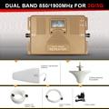 Nueva generación smart 2g 3g repetidor de la señal, doble banda 1900 MHz + 850 Mhz gsm 2g 3g Teléfono Móvil de Señal amplificador Booster con LCD