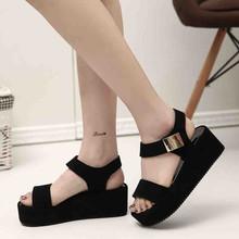 YOUYEDIAN summer women's shoes flat fashion wedges platform sandals women ladies sandals plus size #w30