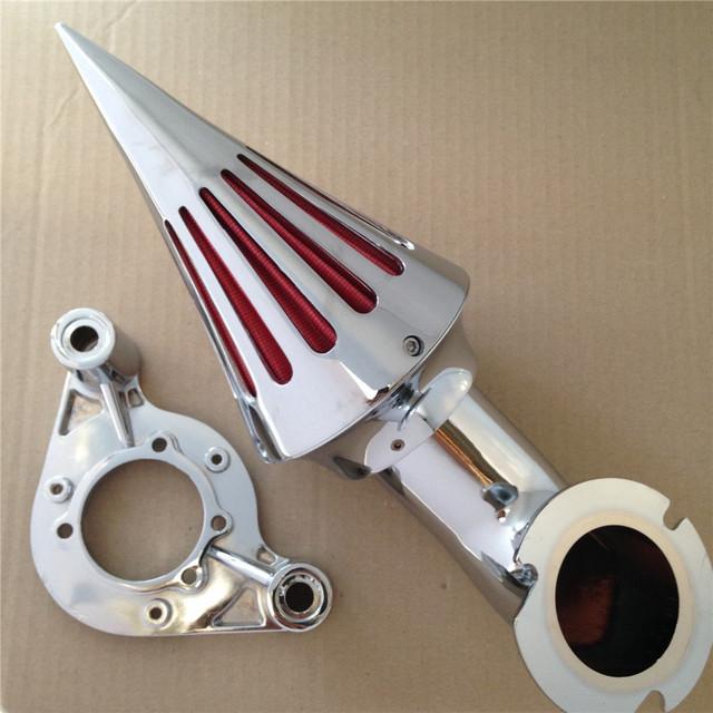 Aftermarket frete grátis acessórios Da Motocicleta de Spike Air Cleaner kits para 2010 modelos Touring Harley Dyna CROMADO