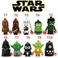 Nova chegada Pen Drive Star Wars Darth Vader Cordão Dos Desenhos Animados Pendriver Chewbacca USB Flash Drives 8 GB 16 GB 32 GB 64 GB U disco Presentes