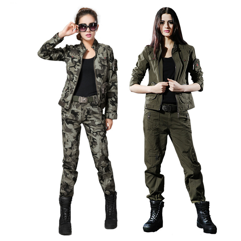 ФОТО Free Shipping Cool WomanTactical Camouflage Outdoor Jacket Sets Lady Army Sport Hiking Clothes Breathable  Military Top+ Pants
