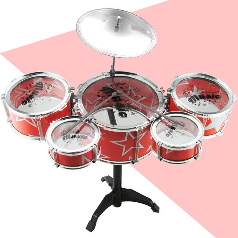 Классический Джаз Барабанная установка Ударный Инструмент Музыкальные Игрушки Головоломки для Детей