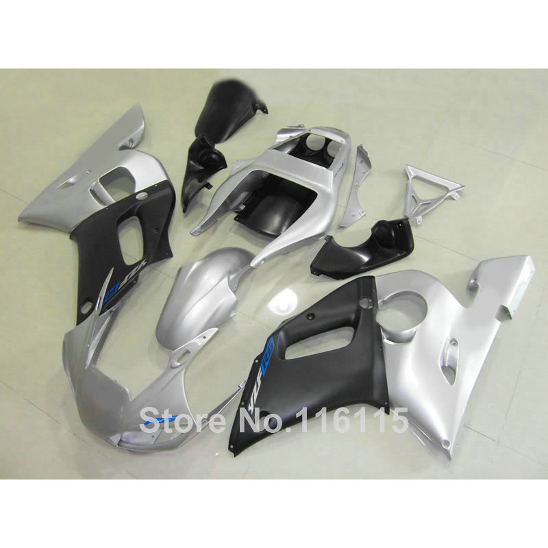 Fit for YAMAHA R6 fairing kit 1998 1999 2000 2001 2002 matte black silver YZF R6 fairings set 98 99 00 01 02 full kits NX31