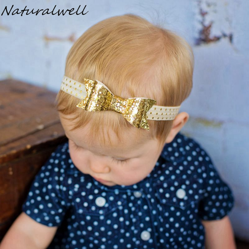 Deux tons 100/% paillettes cheveux arcs//Clips Pour Filles//Bébé tous les âges-plusieurs couleurs