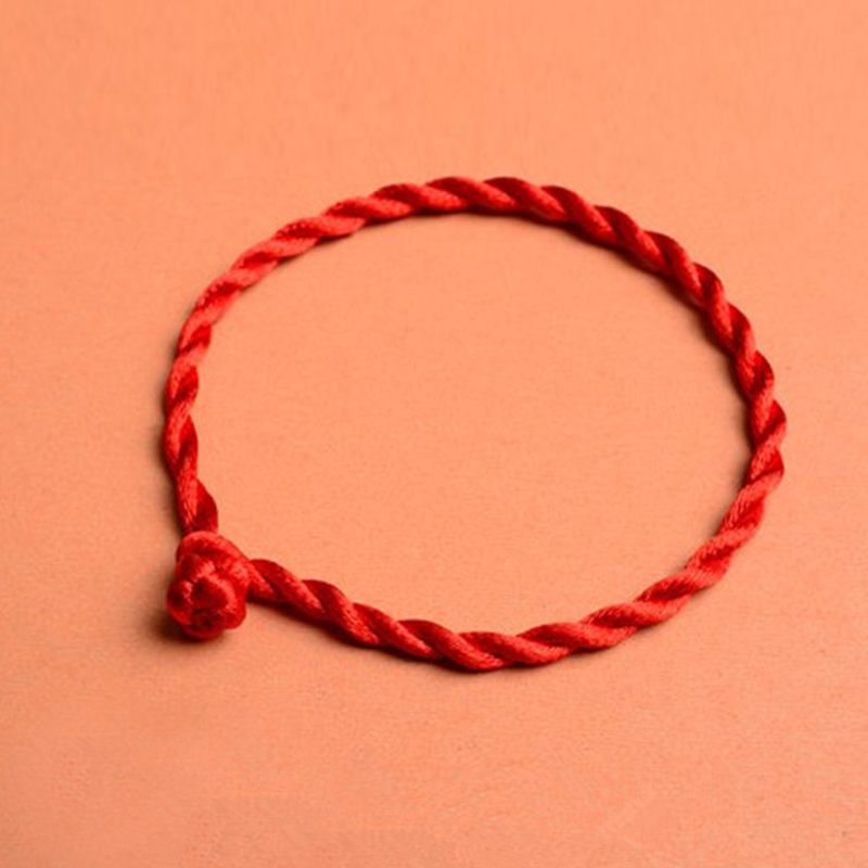 10Pcs/Lot Handmade Lucky Red String Rope Bracelet For Women Men Couple Thread Bracelets & Bangles Fashion Jewelry Gift
