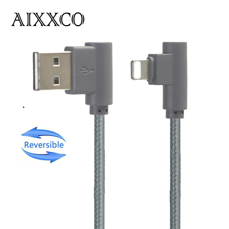 aixxco reversible left right angle 8 pin usb cable 90 degree charging data sync cords for iphone. Black Bedroom Furniture Sets. Home Design Ideas