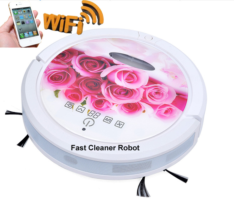WIFI Smartphone App Control Sweeping Vacuum Sterilize Wet Mop And Dry Mop Mini Vacuum Cleaner Robot With 150ml Water Tank