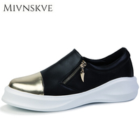 MIVNSKVE New Fashion Shoes Men Brand Thick Bottom Soft Leather Men S Casual Shoes Male Flats