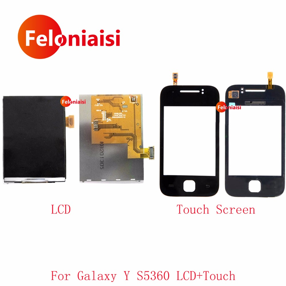 High Quality 3.0 For Samsung Galaxy Y S5360 LCD Display+Touch Screen Digitizer Sensor Panel Front Glass Black White