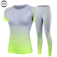 Nova marca Conjuntos de fatos Yoga Respirável das Mulheres Terno Do Esporte da Aptidão ginásio Correndo Set Top Camisa Calças de Yoga Yoga Verde Para meninas