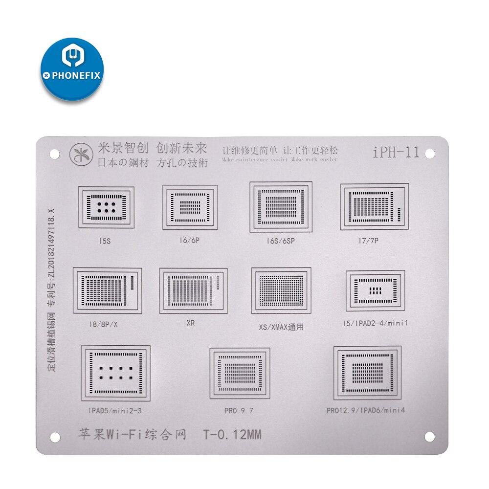 0.12mm MJ Japan Steel Tin Net for Iphone  6 7 8 X XS MAX Ipad Wifi NAND A8 A9 A10 A11 CPU BGA Reballing Stencils Square Holes0.12mm MJ Japan Steel Tin Net for Iphone  6 7 8 X XS MAX Ipad Wifi NAND A8 A9 A10 A11 CPU BGA Reballing Stencils Square Holes
