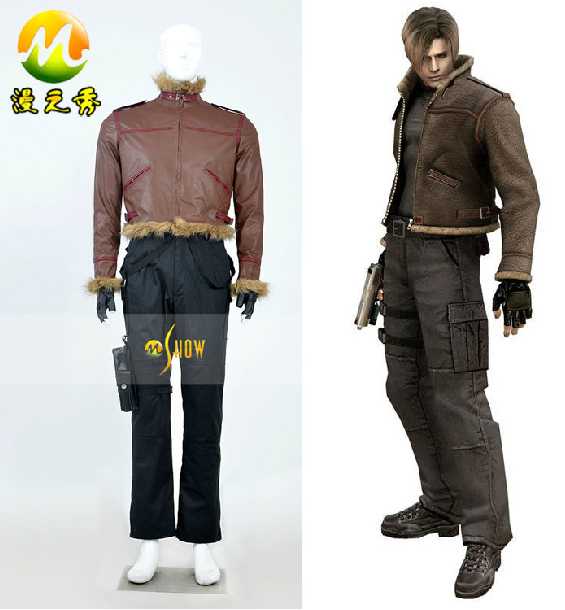 Cosplay Costume Resident Evil 4 Leon S Kennedy Coffee
