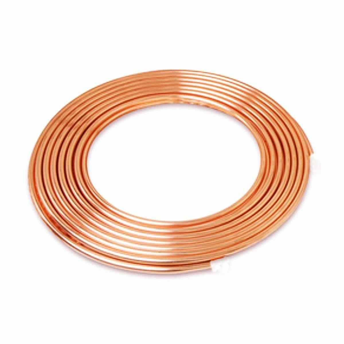 """5m 3/8""""inch Soft Coil  Pipe Copper Brass Tube Hose Air Conditioner  Tube Refrigeration Copper Pipe Refrigerant Gas DIY Cooling"""
