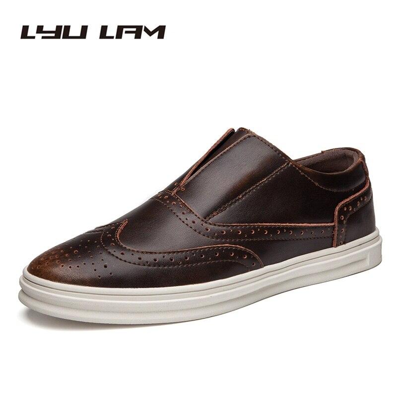autumn toe mens dress shoes black genuine leather