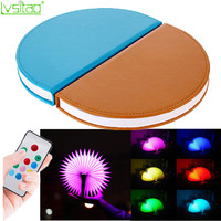 Led Book Light PU Cover Portable Bedroom Children Night Light Creative Home Decor7colors Remote Control Table Lamp Novelty Gifts