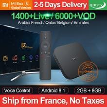 Arabic France IPTV 1 Year QHDTV Xiaomi MI Box S Android 8.1 2G+8G BT Dual-Band WIFI Google Player IPTV Subscription IPTV France