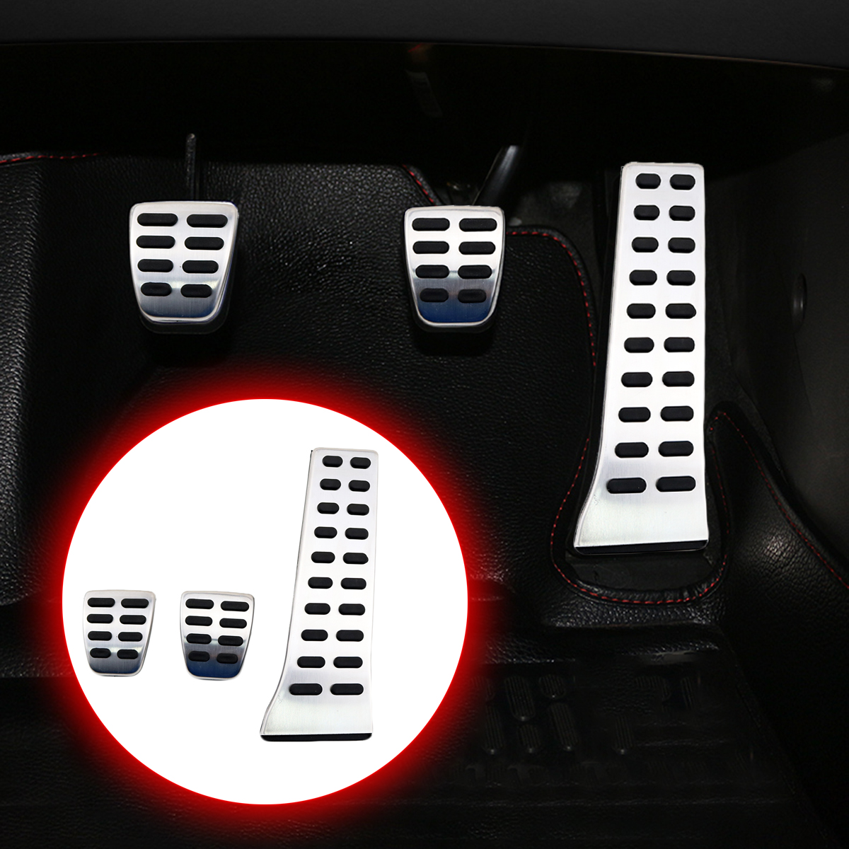 Fit For KIA K3S K3 K4 K5 Sportage Cadenza Sorento Accessories Clutch Brake Accelerator Gas Fuel Pedal Antiskid Cover Set