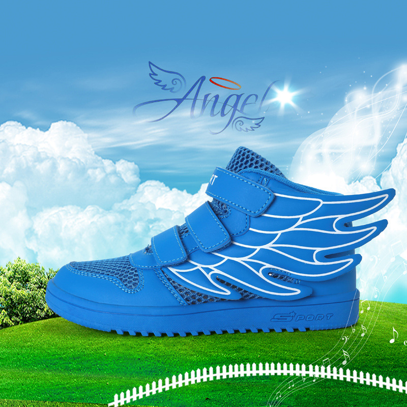 2018 Summer Patchwork PU Leather And Mesh Kid Shoes For Boys Breathable White Childrens  ...