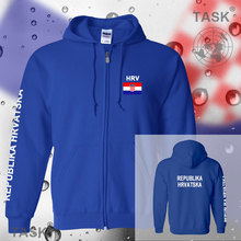 Croatia Hrvatska mens hoodies and sweatshirt casual polo sweat suit streetwear tracksuit nations fleece zipper flag Croatian HRV