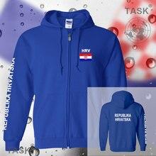 Croatia Hrvatska mens hoodies and sweatshirt casual polo sweat suit streetwear tracksuit nations fleece zipper flag Croatian HRV