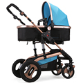 High Quality Baby Stroller High Landscape Aluminum Alloy Bidirectional Wheel Folding Portable Baby stroller 3 in 1 C01