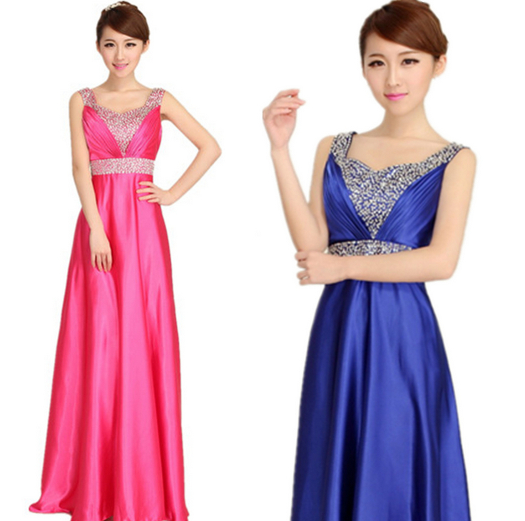 Ladies Bridesmaid Costume Hot Style Satin Dress Women Vintage Dress Beautiful Dinner Party Dress-in Dresses from Womenu0027s Clothing u0026 Accessories on ...  sc 1 st  AliExpress.com & Ladies Bridesmaid Costume Hot Style Satin Dress Women Vintage Dress ...